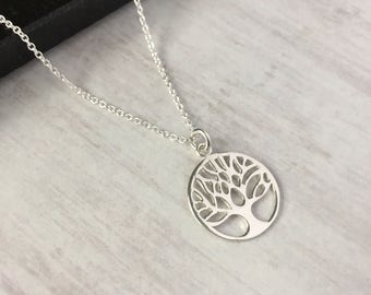 Sterling Silver Tree of Life Necklace/Tree of Life/Tree/Everyday Wear/Family/Pendant/Layer/Tree Pendant/Gift/UK