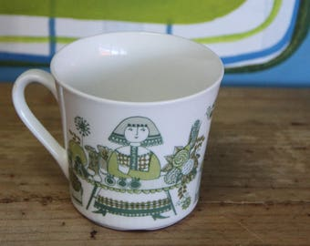 Vintage Figgio Market design Tea Cup   Made in Norway