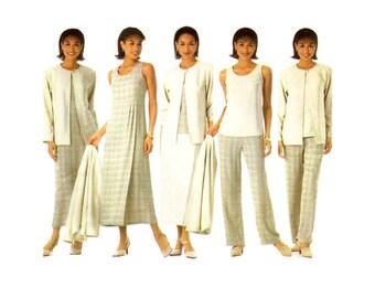 Misses Pants Skirt Top Dress Jumper Jacket Simplicity 5345 Sewing Pattern Size 8 - 10 - 12 - 14 Bust 31 1/2 - 32 1/2 - 34 - 36 UNCUT