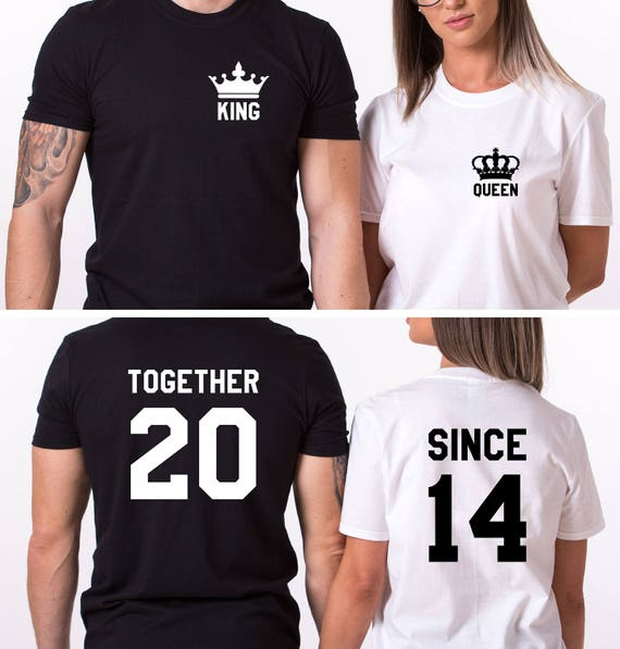 Just Married Shirts, Together Since T-Shirts,Anniversary Shirts, Wedding Shirts, Honeymoon Shirts, Together Since, UNISEX