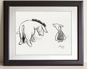 Oh Bother - Winnie the Pooh 11x14 Unframed Nursery Art Print