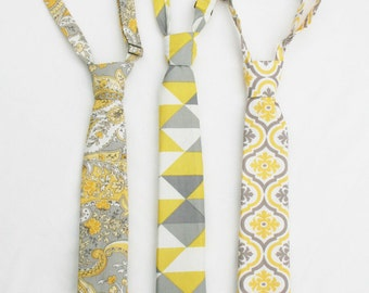 Boys Formal Wear Necktie, Boys Yellow Necktie, Toddler Formal Wear Necktie, Beach Wedding Outfit, Page Boy Outfit, Family Photo Outfit