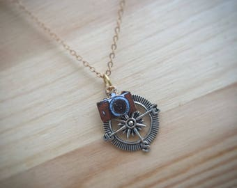 charm camera jewelry silver pendant photography shipping necklace free travel moon products