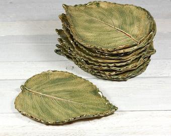 Ceramic Leaf - Large Spoon Rest - Soap Dish - Leaf Pottery