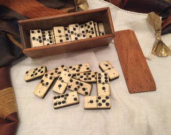 A vintage domino game