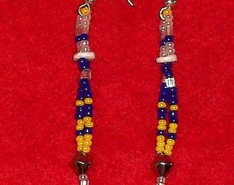 Native American Beaded Dangle Earrings