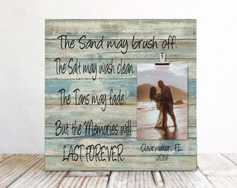 Beach Vacation Frame, The Sand May Brush Off Picture Frame, Family Beach Vacation Frame, Beach House Decor, Beach Picture Frame