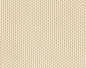 ARROWHEAD cream / taupe geometric cotton fabric by the yard, fq+. Michael Miller fabric, quilting fabric, 100% cotton fabric!