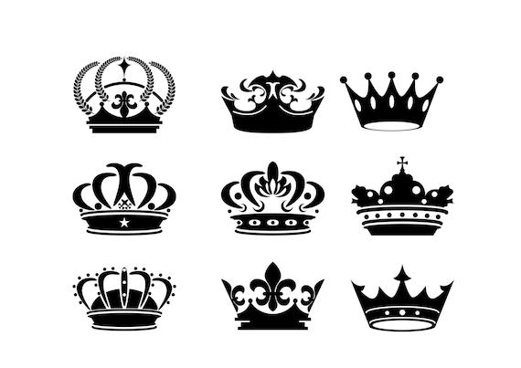 crown silhouette digital clipart vector eps png files black clip art rh etsystudio com French Bee Clip Art French Bee Clip Art