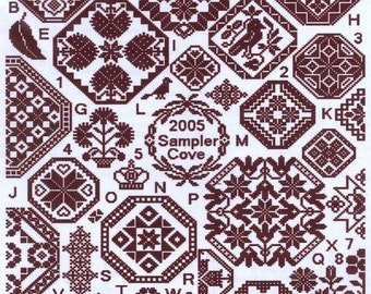 Grace Quaker Sampler by Sampler Cove Counted Cross Stitch Pattern/Chart