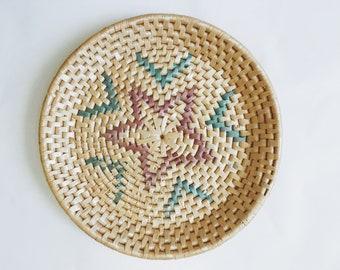 Woven Printed Basket/Plate.