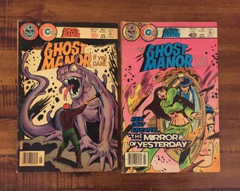 1978-79 Ghost Manor #37 and #44 Comic Books/ Charlton Comics/ Choose One or Both for a Discounted Price!