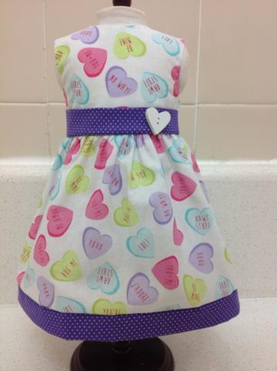 Heart Candy Dress  American Made 18 Inch Doll Clothes