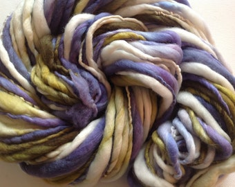Hand spun  merino yarn Thick and Thin super bulky 68 yards 3.25ozs