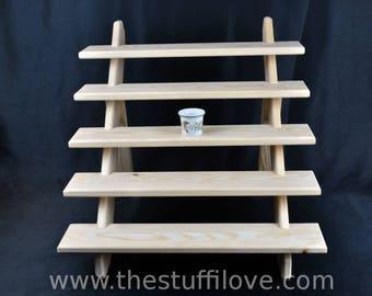 5 Tier Standard Portable Riser Craft fair Display Shelving Stand