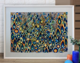 Quilling colors abstraction
