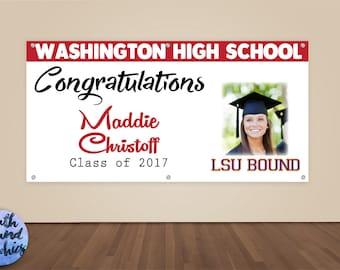 High School Graduation Banner - Graduation Party Photo Backdrop - Graduation Sign College Graduate Banner Vinyl Sign - Picture Banner