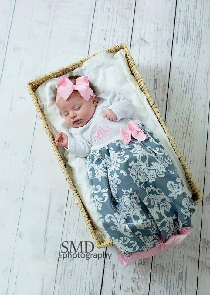 Newborn hospital outfit personalized baby girl clothes zoom negle Gallery