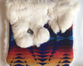 Rabbit Fur Clutch