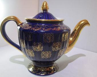 Cobalt blue Hall Teapot