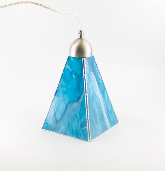items similar to aqua blue glass pendant lighting 87867