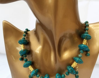 Turquoise Necklace and Earrings