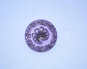 Lavender Czech Glass Buttons