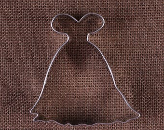 Princess Dress Cookie Cutter, Ball Gown Cookie Cutters, Wedding Dress Cookie Cutters, Wedding Cookie Cutters, Dress Biscuit Cutters