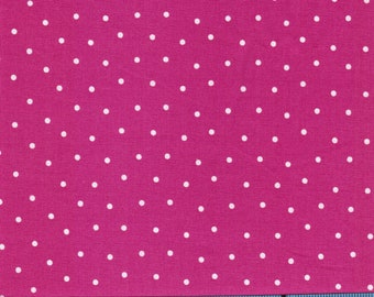 Bright Pink with White Dots by Brother Sister Design Studio,100% Cotton Fabric by the Yard,Quilting,Apparel Fabric,Home Decor,Crafts,Nursery