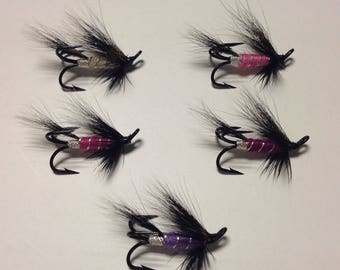 Salmon fly, fly fishing, five in pack
