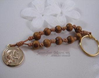 Rosary key charm, Jesus Charm, Rosary Key Chain Charm, Bag Charm, Pocket Charm, Maria Charm, Christmas gift