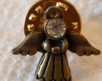 Vintage JJ Trio of Angels lapel pins, Lapel pins, Hat pins, trio of angels