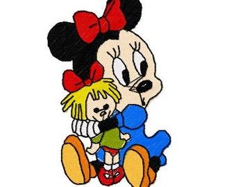 Minnie Maus Maschine Stickerei Design-Paket, 4 x 4 Reifen, 9 Formate