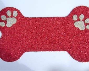 Dog Bone Rubber Doggy Place Mats