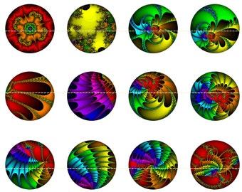 Fractal Magnets Pins, Fridge Magnets, Fractals