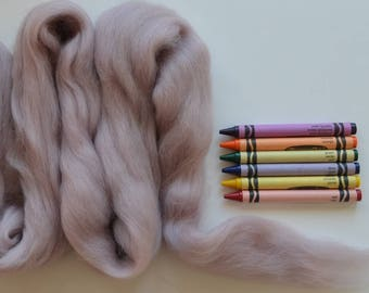 MERINO WOOL ROVING / Faded Sandstone  1 ounce / wool for dreadlocks  / needle felt wool / wool for weaving / spinning wool