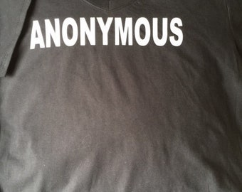 V-NecK Anonymous T-shirt