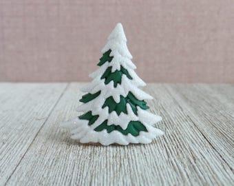 Snow Covered Tree - Winter - Christmas Tree - December - Pine Tree - Evergreen Tree - Lapel Pin