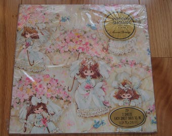 American Greetings Baby Wrapping Paper Vintage Birthday Wrap Kids