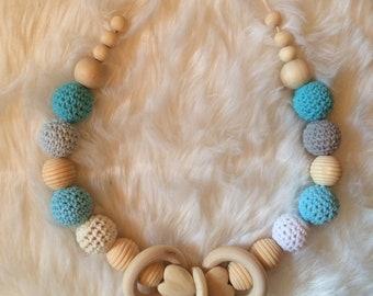 Breastfeeding and Babywearing Turquoise necklace