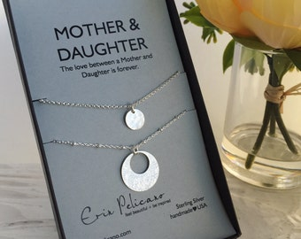 Mothers Day Gift Mother Daughter Gift Mother Daughter Necklace Gifts for Mom Necklace Mother of the Bride Gift Mom Birthday Gift for Her