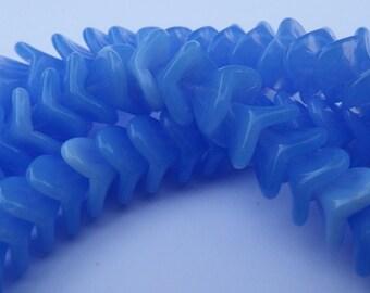 25 Czech Pressed Glass Periwinkle Blue Flower 12 MM Beads / Flower Bead / Czech Pressed Glass Flower Beads / 12 MM Flower Bead