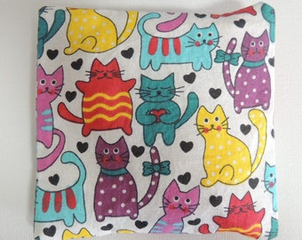 Cats Boo Boo bag. Washable cover. Cold Pack. Heat Pack. Sore Knee compress. Hot or cold pack. injury relief aid.