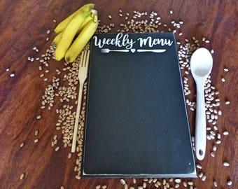 Menu Chalkboard - Weekly Menu Board - Kitchen Decor - Menu - Chalkboard Menu - Chalkboard - Vinyl Menu - Weekly Menu - Kitchen Decoration