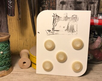 Retro cream buttons