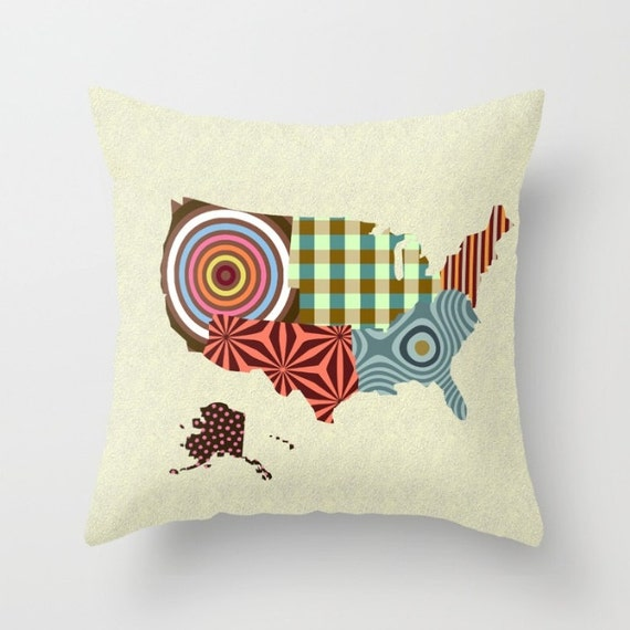 USA Pillow, State Pillow, State Gifts, Made In USA, USA Map, Travel Map United States, Cute Office Decor, Pillow Cases