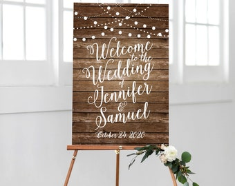 Rustic Welcome Wedding Sign Printable Rustic Wood Welcome Wedding Sign Rustic Wedding Sign Welcome Sign Reception Sign #CL101