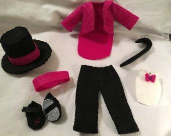 Tap dancing costume (Gingermelon felt doll)