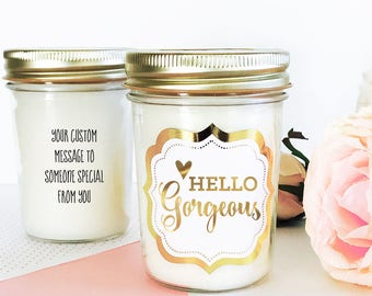 Hello Gorgeous Candle Best Friend Birthday Gift Cheer Up Gift Cute Gift for Friend Birthday Gift for Best Friend (EB3178FT) Candle
