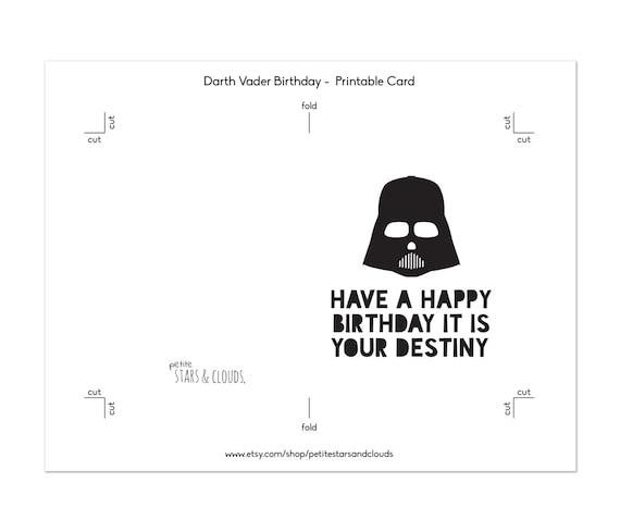Star wars bithday darth vader card star wars birthday card star wars bithday darth vader card star wars birthday card birthday card star wars party happy birthday darth vader birthday print bookmarktalkfo Choice Image